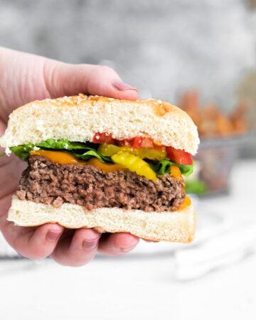 How to make cheddar cheeseburgers using an air fryer 360x450 - Air Fryer Cheeseburgers
