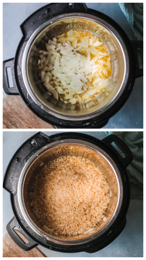 How to make Pumpkin risotto in the instant pot step 1 and 2 576x1024 - Instant Pot Pumpkin Risotto