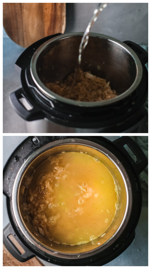 How to make Pumpkin risotto in the instant pot step 3 and 4 576x1024 - Instant Pot Pumpkin Risotto