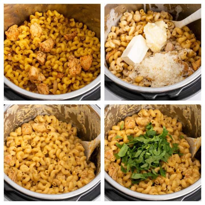 How to make creamy garlic parmesan chicken and pasta in the instant pot 720x720 - Instant Pot Garlic Parmesan Pasta with Chicken and Spinach