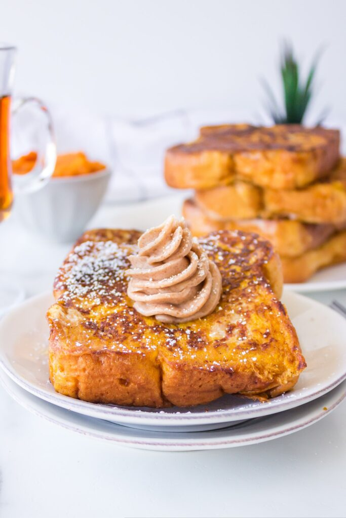 Pumpkin French Toast 683x1024 - Pumpkin French Toast with Whipped Maple Cinnamon Butter