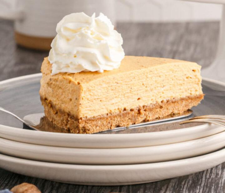 Pumpkin cheesecake made healthier 720x618 - Pumpkin Cheesecake (no water bath required)
