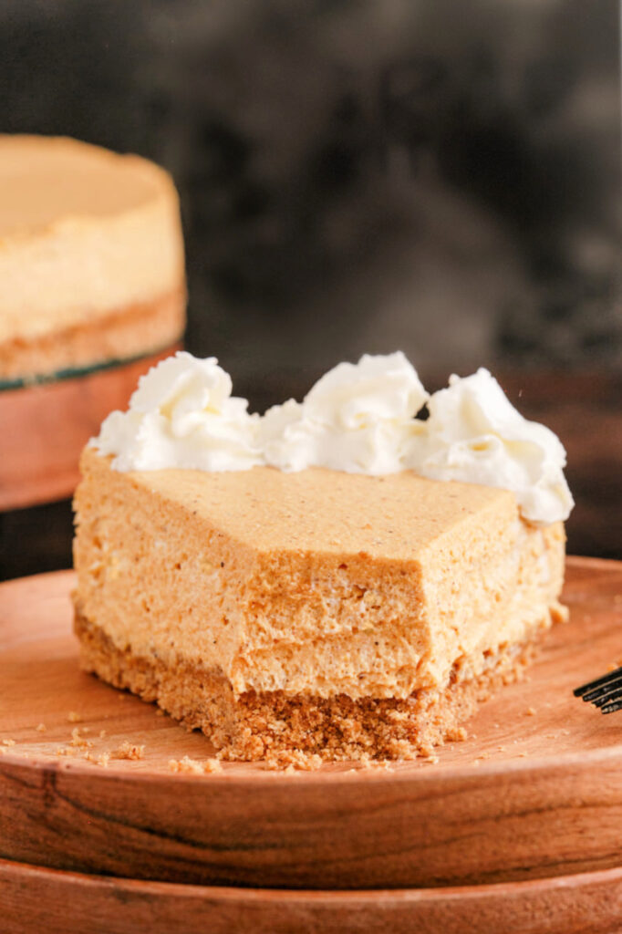 Pumpkin cheesecake made without a water bath 682x1024 - Pumpkin Cheesecake (no water bath required)