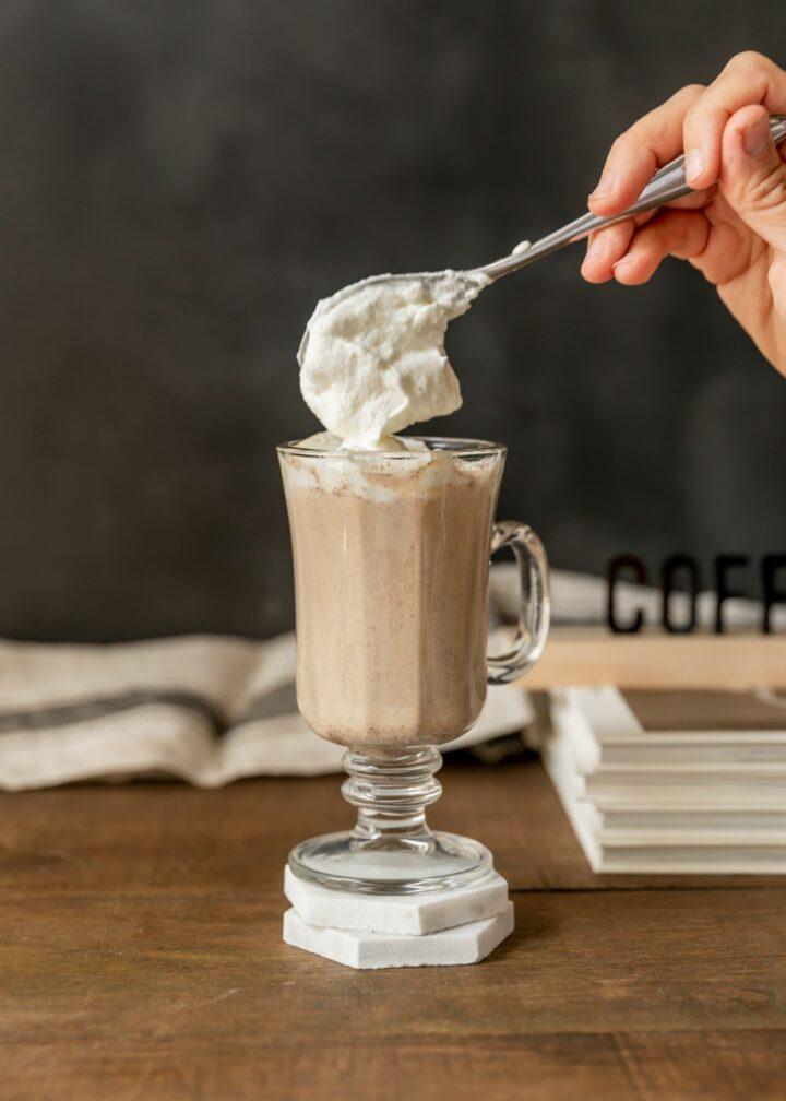 Starbucks Pumpkin Latte process 5 720x1008 - Instant Pot Pumpkin Bread Pudding