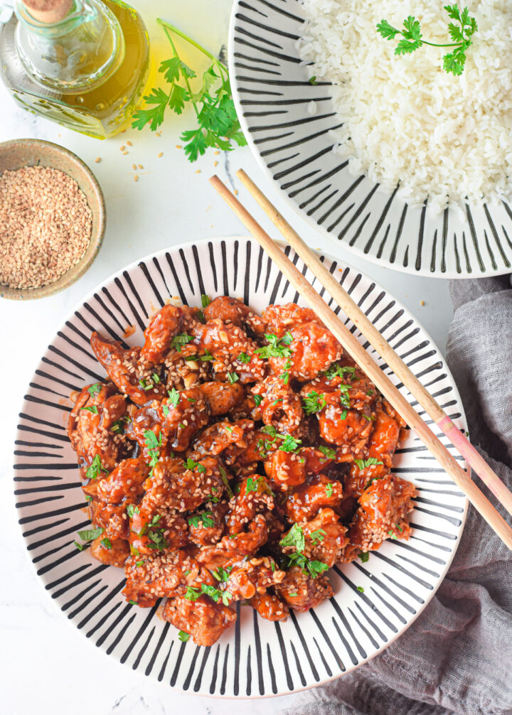 Air Fryer Sesame Chicken comes out sweet savory and crispy 2 720x1006 - Air Fryer Sesame Chicken