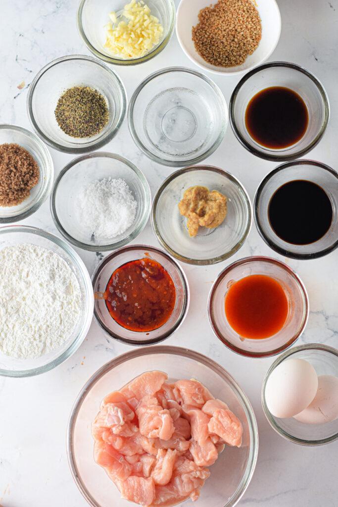 Ingredients needed to make Sesame Chicken 683x1024 - Air Fryer Sesame Chicken