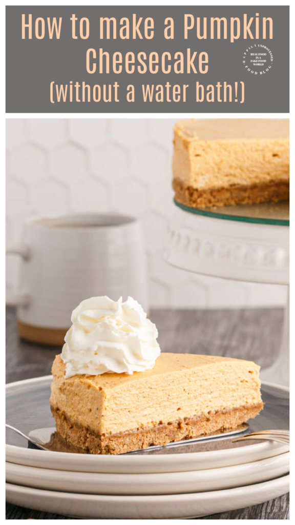 Pumpkin Cheesecake without a water bath the easiest way to make a failproof cheesecake 1 576x1024 - Pumpkin Cheesecake (no water bath required)