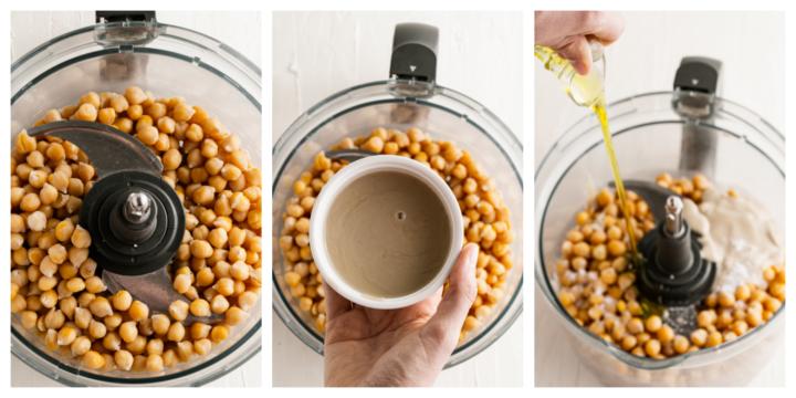 How to make Pumpkin hummus  720x360 - Roasted Pumpkin and Garlic Hummus