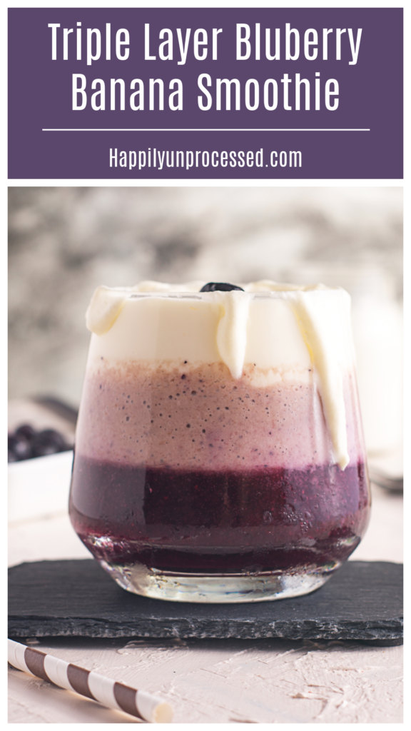 Triple Layer Blueberry Banana Smoothie not only is healthy and delicious but gorgeous as well smoothie breakfast healthybreakfast 1 576x1024 - Triple-Layered Blueberry Banana Smoothie