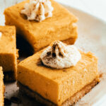 pumpkin cheesecake bars with whipped cream on top 150x150 - Banana Bread (Gluten, Dairy, Sugar Free)